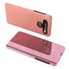 Clear View Case futerał etui z klapką LG K61 różowy